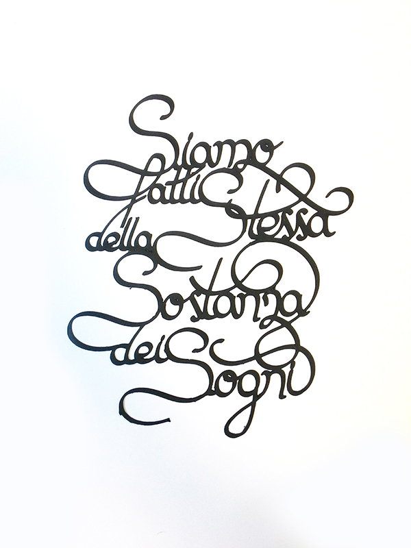 Paper cut letters